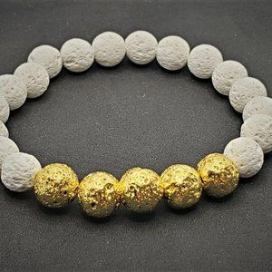 Jewelry - Golden Lava stone Grounding bracelet